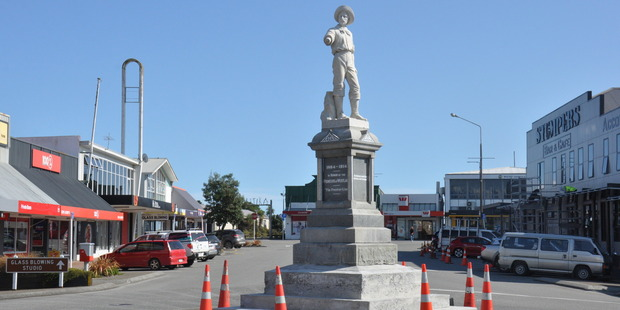 Hokitika historian Max Dowell says the statue itself is completely facing in the wrong direction. Photo / Hokitika Guardian