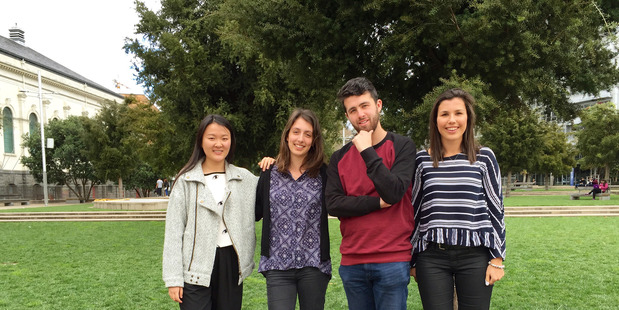 Left to right: Community storyteller Maggie Shui, education advisor Michelle Chamberlin, tutor manager Callum Fitzpatrick and education advisor Samantha McDiarmid.