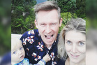 Tim Wilson, with his wife Rachel and son Felix, in Hahei. Photo / Supplied