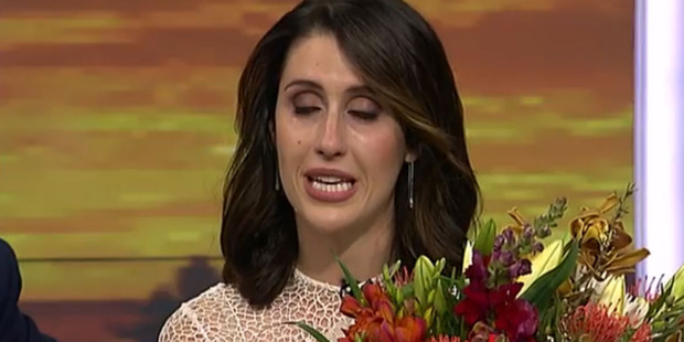 Nadine tears up during her final farewell from Breakfast.