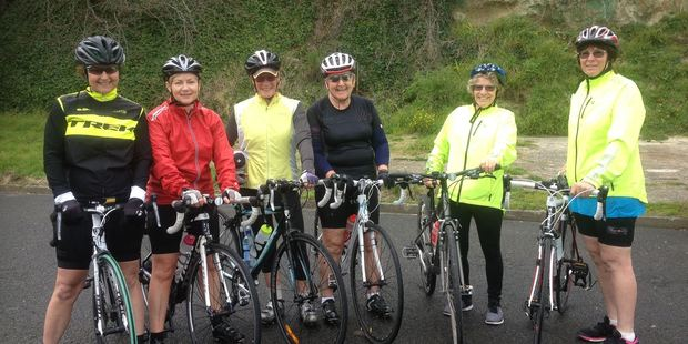 BIKERS: The first women's group enjoyed a Sunday ride. PICTURE / SPORT WHANGANUI