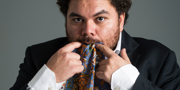 Actor and comedian Josh Thomson, a man of many ties. Photo/Jason Oxenham