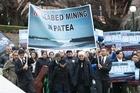 Taranaki march on Parliament to call a halt to sea bed mining off the coast