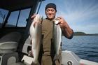 Angler Sam Kereopa hooked into some nice trout at Lake Tarawera.