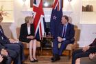 John Key meets British Prime Minister Theresa May. Photo / Audrey Young