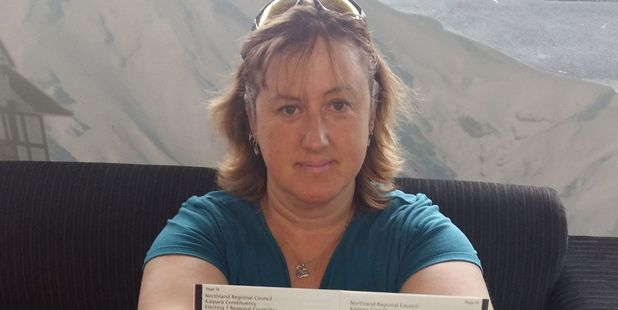 Michelle Kennard received information on candidates standing in Northland not Stratford in her voting pack which arrived on Saturday.