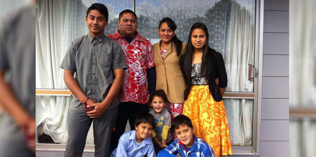 The family of Sakaria Poutasi, second from left, are in mourning after his death in a car crash. Photo / Supplied