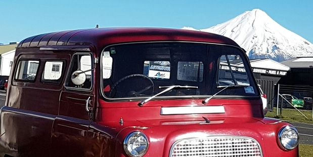 Noel Petrie's Bedford van has driven through Stratford for the last time, and is now in Te Awamutu with new owners.