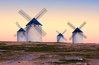 The La Mancha region is dotted with whitewashed windmills, like those Don Quixote fights in Miguel de Cervantes' book. Photo / 123RF