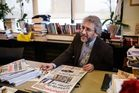 Cumhuriyet daily's editor-in-chief Can Dundar in his office. Photo / AP