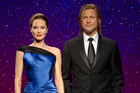 Madame Tussauds has separated wax figures resembling married actors Angelina Jolie Pitt and Brad Pitt after their divorce was announced. Photo/AP