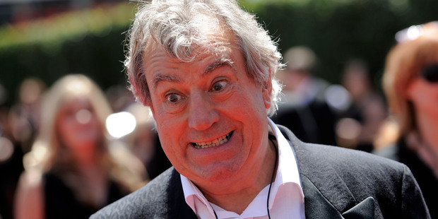 FILE- In this Saturday, Aug. 21, 2010 file photo, Terry Jones arrives at the Creative Arts Emmy Awards in Los Angeles. Jones, one of the founding members of comedy troupe Monty Python, has been diagno