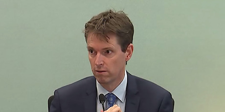 Colin Craig gives evidence in his defamation trial brought by Jordan Williams at the Auckland High Court 15 September 2016 picture supplied still from video NZH 16Sep16 - Colin Craig told the