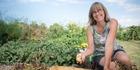 Gardening expert Sarah O'Neil in her vegetable garden. Picture / Ted Baghurst