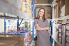Jessie Jarvie, founder of The Baby Bag, a same-day baby supplies delivery company. Pic Ted Baghurst.