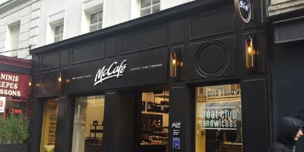 At first glance, it looks like a regular McCafe. Photo / Facebook