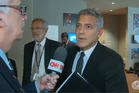 George Clooney was stunned to hear of his friend Brad Pitt's divorce with Angelina Jolie. Photo / CNN
