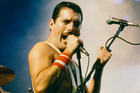 Freddie Mercury performing with Queen at the Rock in Rio festival, Brazil, January 1985. Photo / Getty