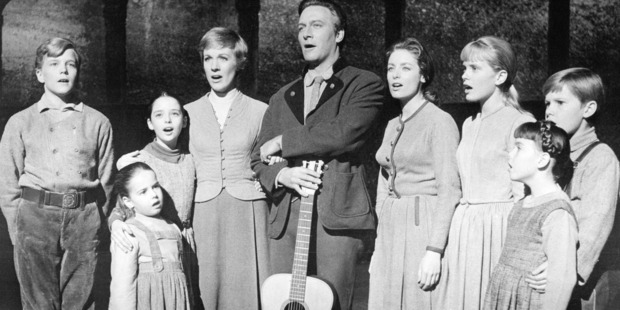 The actors playing members of the Von Trapp family in a promotional portrait for 'The Sound Of Music.' Photo / Getty