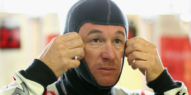 Greg Murphy prepares for practice for the Sandown 500 in 2014. Photo / Getty Images