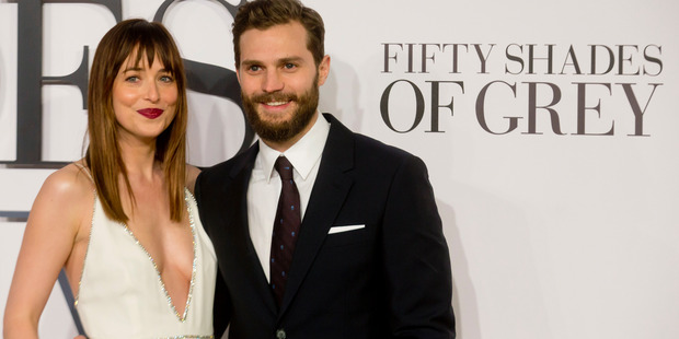 Dakota Johnson and Jamie Dornan attends the UK Premiere of Fifty Shades Of Grey. Photo / Getty