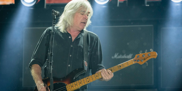 Cliff Williams performs at Olympiastadion on May 19, 2015 in Munich, Germany. Photo / Getty