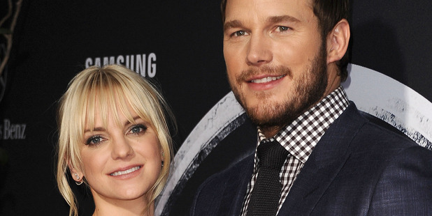 Actress Anna Faris and actor Chris Pratt attend the premiere of Jurassic World. Photo / Getty