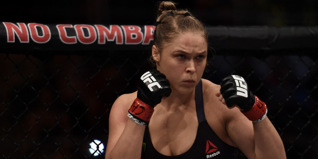 UFC president Dana White hasn't ruled out the possibility of Ronda Rousey returning to the octagon to face Cris Cyborg. Photo / Getty