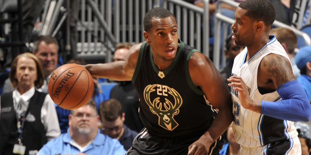 Khris Middleton during a game against the Orlando Magic. Photo / Getty Images