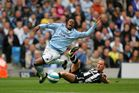 Emile Mpenza during his stint with Manchester City. Photo / Getty Images