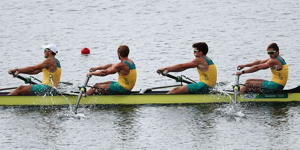 The Australian men's four. Photo / Getty