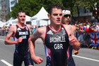 Alistair Brownlee and Jonathan Brownlee during the Rio Olympics. Photo / Getty Images