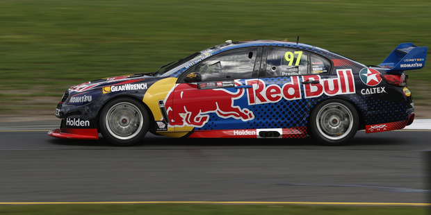 Shane van Gisbergen during practice ahead of V8 Supercars Sandown 500. Photo / Getty Images