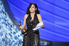 Julia Louis-Dreyfus breaks down dedicating her Emmy to her late father. Photo / Getty Images