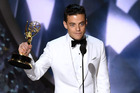 Actor Rami Malek accepts Outstanding Lead Actor in a Drama Series for 'Mr. Robot' onstage during the 68th Annual Primetime Emmy Awards. Photo / Getty