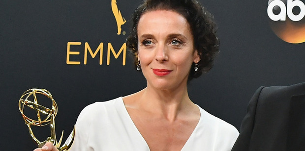 Loading Actress Amanda Abbington says her handbag was stolen while she was collecting her Emmy. Photo/Getty