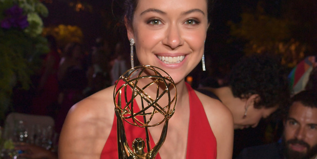 Actress Tatiana Maslany, winner of the Outstanding Lead Actress in a Drama Series award for 'Orphan Black,' attends the 68th Annual Primetime Emmy Awards Governors Ball. Photo / Getty