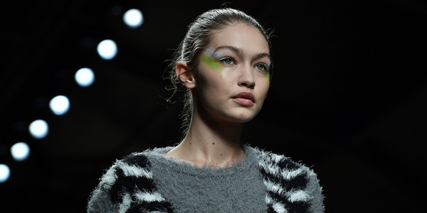 Gigi Hadid, on the runway for Max Mara, before she was attacked by serial prankster Vitalii Sediuk. Photo / Getty