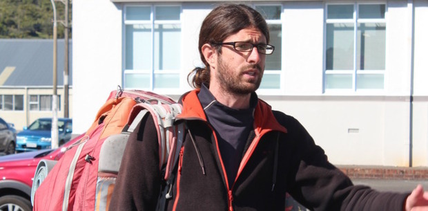 This French hitchhiker was arrested after becoming frustrated while trying to get a ride. Photo / Greymouth Star