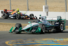 Simon Pagenaud during qualifying for Monday's IndyCar race at Sonoma. Photo / AP