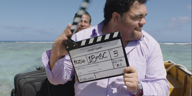 Kiwi comedian Josh Thomson on the set of Gary and the Pacific. Photo/Supplied