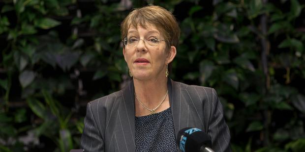 Wellington mayor Celia Wade-Brown, announcing her decision not to stand in the 2016 local-body elections. Photo  / Mark Mitchell