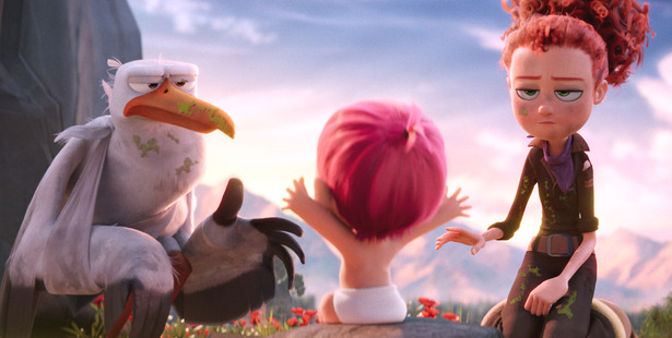 A scene from the animated film Storks.