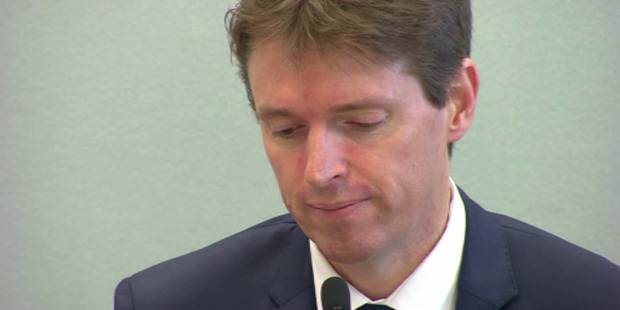 Colin Craig giving evidence earlier in the trial.