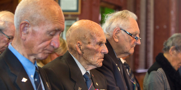 Loading REMEMBER: Battle of Britain and Air Forces Commemoration day at St Faith's Church. David Daniel (centre). PHOTO/BEN FRASER