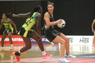 Silver Ferns' Grace Rasmussen excelled at wing attack in her side's victory over Jamaica in the final game of the 2016 Taini Jamison Trophy series. Photo/ Ben Fraser.
