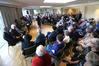 Bob Owens Retirement Village hosted the largest Meet the Candidates events so far, with 200 people hearing the  mayoral candidates speak. Photo/John Borren