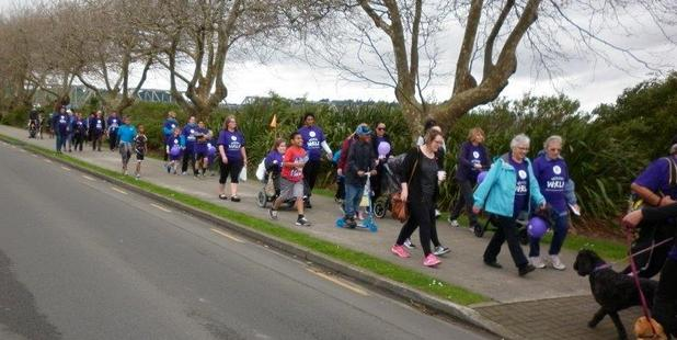The Memory Walk makes its way along Somme Pde on Saturday. PHOTO/SUPPLIED