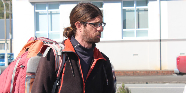 Loading French hitchhiker Cedric Claude Rene Rault-Verpre blasted authorities over their over-zealous behaviour. Photo / Greymouth Star