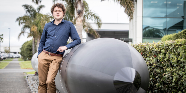 Peter Beck founder and chief executive of Rocket Lab outside the company's Auckland base. Photo / Michael Craig